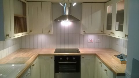 S B Electrical Kitchen Installation 1